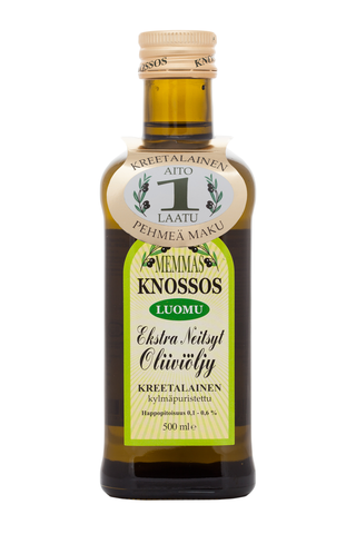 Memmas Knossos Luomu Extra Neitsytoliiviöljy 500 ml