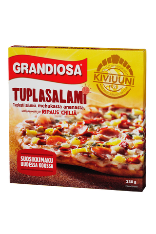 Grandiosa tuplasalami kiviuunipizza, salamia,...