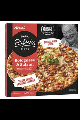 Papa Rafkin Bolognese&Salami jauheliha-salamipizza...
