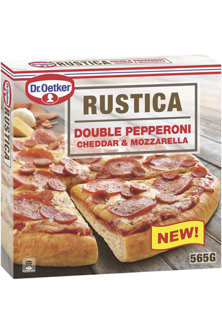 Dr. Oetker Rustica Double Pepperoni Cheddar...