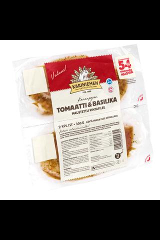 Kariniemen Kananpojan rintafilee tomaatti-basilika...