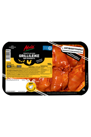 Atria Kanan Grillileike BBQ-marinoitu 900g