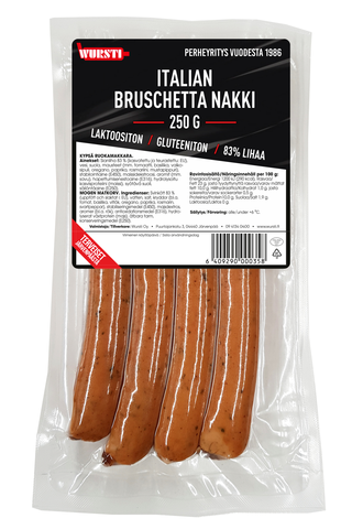 Wursti Italian bruchetta nakki 250g