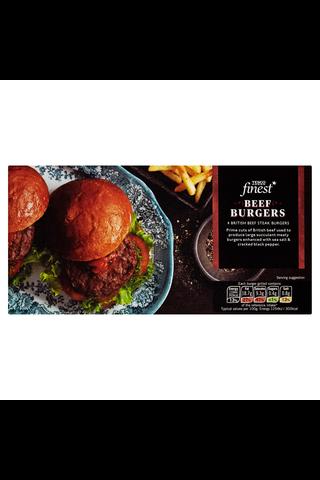 Tesco Finest 454g Beef burgers jauhelihapihvejä...