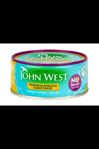 120g John West NoDrain Meheviä tonnikalapaloja...