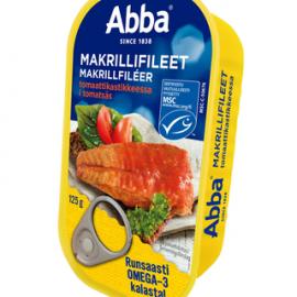 Abba MSC makrillifileet tomaattikastikkeessa...