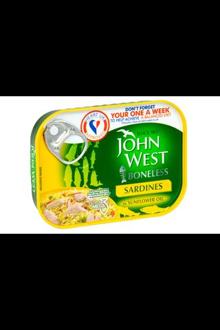 95/67g John West Ruodottomia sardiineja auringonkukkaöljyssä