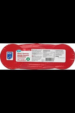 Makrillia tomaattikastikkeessa 375 g (3 x...