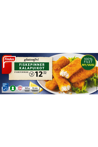 Findus Gluteenittomat kalapuikot MSC 360g,...