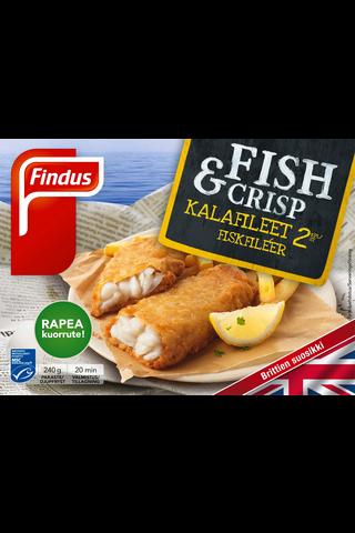 Findus Fish & Crisp kalafileet MSC 240g,...