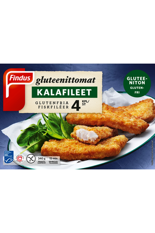 Findus Gluteenittomat kalafileet MSC 340g...