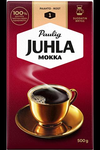 Juhla Mokka 500g suodatinjauhettu kahvi