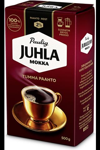 Juhla Mokka Tumma Paahto 500g hienojauhettu kahvi