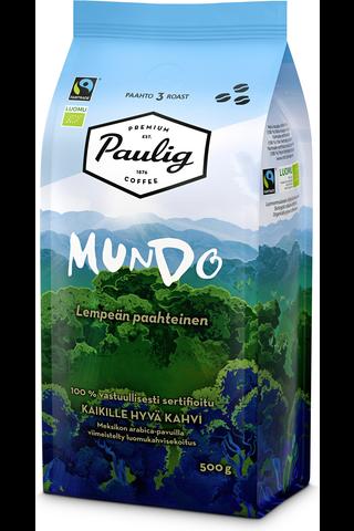 Paulig Mundo 500g papukahvia Reilu kauppa,...