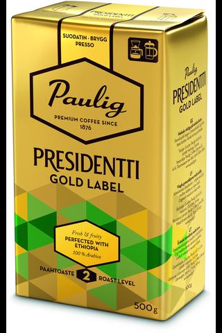 Presidentti Gold Label 500g hienojauhettu...
