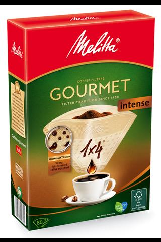 Melitta 1×4/80 Gourmet Intense suodatinpaperi