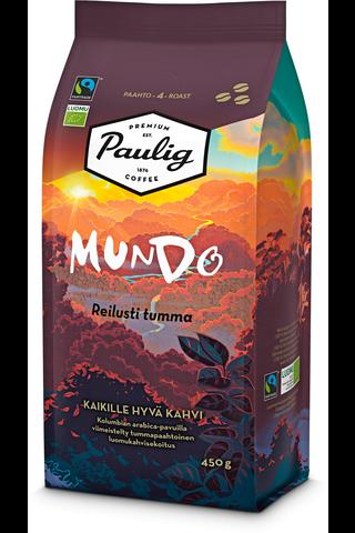 Paulig Mundo Reilusti Tumma 450g papukahvia...