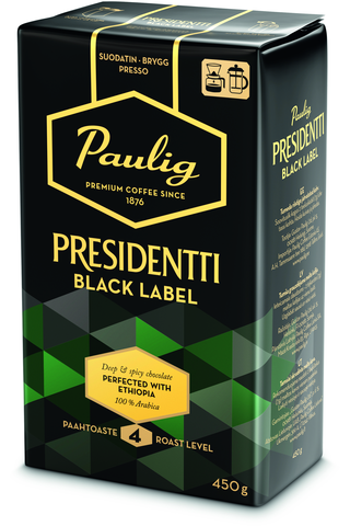 Presidentti Black Label 450g hienojauhettu...