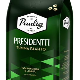 Presidentti Tumma Paahto 450g papukahvia