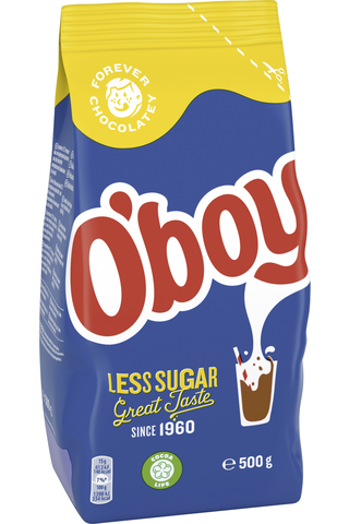 Oboy Less Sugar Kaakaojuomajauhe 500g