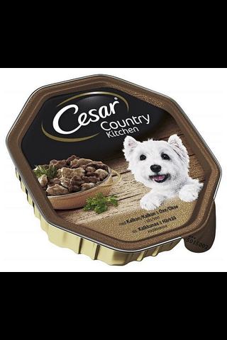Cesar Country Kalkkunaa & Häränlihaa kastikkeessa 150g
