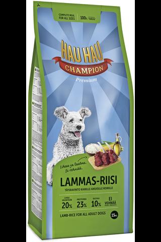 Hau-Hau Champion Lammas-riisi täysravinto...