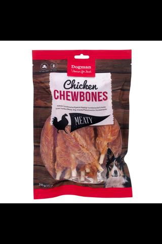 Dogman Meaty 240g 12kpl Chicken Chewbone...