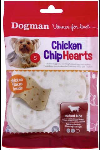 Dogman 30g 4kpl Chicken Chip Hearts koiraherkku