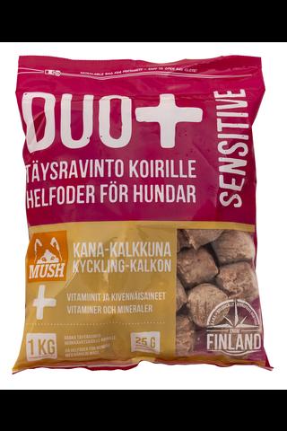 DUO+ Kana-kalkkuna täysrehu koirille 1kg