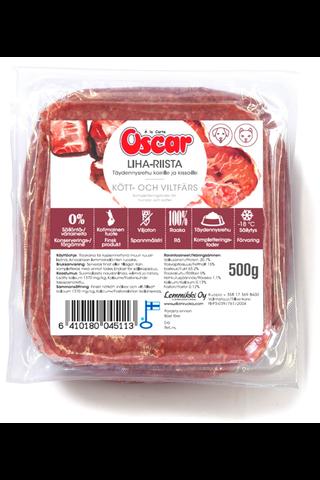 Oscar Liha-riista raaka täydennysravinto koirille ja kissoille 500g