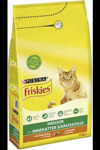 Friskies 1,5kg Indoor Cats Kanaa ja lisättyjä...