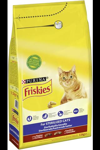 Friskies 1,5kg Sterilised Cats Nautaa ja...