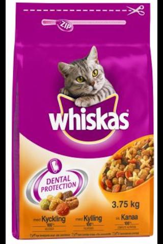 Whiskas 3,75kg Adult Kana, täysrehua aikuisille...