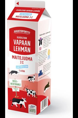 Laktoositon maitojuoma 3 % 1 l