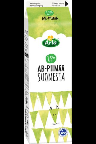 AB piimä 1,5% Suomi 1 L
