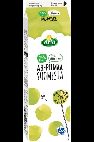 Arla 1 L AB Suomesta 2,5% vähälaktoosinen