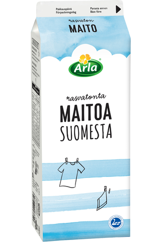 Rasvaton maito Suomi 1 L