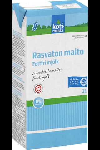 Vähälaktoosinen rasvaton rasvaton maito 1L