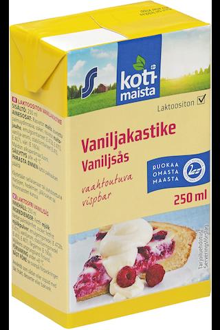 vaahtoutuva vaniljakastike