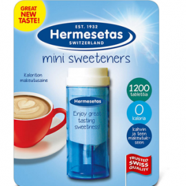Hermesetas 1200kpl Mini Sweeteners pöytämakeutusainetabletti