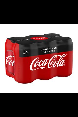 6-pack Coca-Cola Zero Sokeriton virvoitusjuoma...