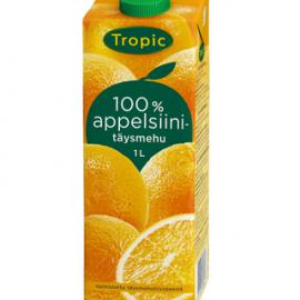 Tropic Appelsiinitäysmehu 100% 1L