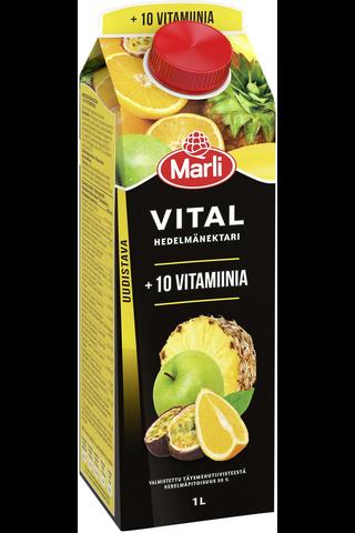 Marli Vital Hedelmänektari + 10 vitamiinia...