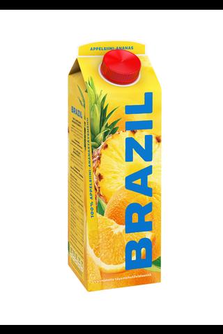 Brazil 1L appelsiini-ananastäysmehu 100%...