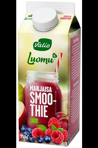 Valio Luomu smoothie 0,75 l marjaisa