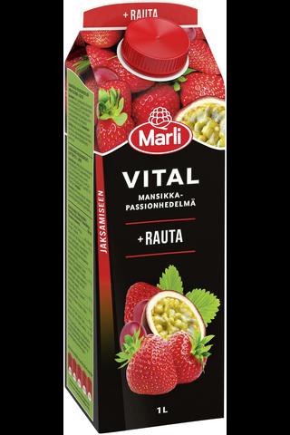 Marli Vital mansikka-passion + rauta mehujuoma...