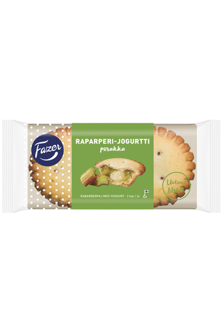 Fazer Raparperi-jogurttipiirakka 2kpl 140g piirakka