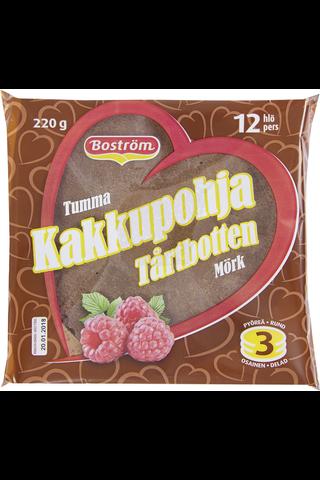 E. Boström 220g tumma kakkupohja