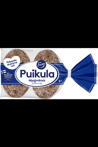 Fazer Puikula 330g 6 kpl Täysjyväruis täysjyväruisleipä