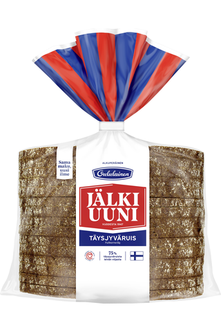 Oululainen Alkuperäinen Jälkiuuniviipale 260g täysjyväruisleipä